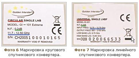 Установка спутниковой антенны. Параметры кругового конвертера. Параметры универсального конвертера.